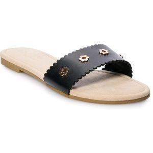 Lauren Conrad Louane Black Studded Sandal